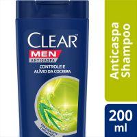 90869bbff Shampoo Clear Anti Caspa Men Controle de Coceira com 200Ml preço